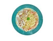 Spaghetti ai frutti di mare Fotografia Stock Libera da Diritti
