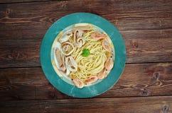 Spaghetti ai frutti di mare Fotografia Stock
