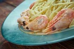 Spaghetti ai frutti di mare Immagini Stock Libere da Diritti