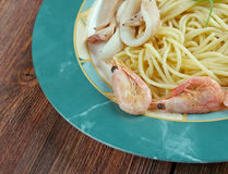 Spaghetti ai frutti di mare Stock Photos