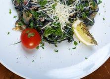 Spaghetti al Nero di Seppia Stock Photography