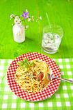 Spaghetti al Pesto Royalty Free Stock Photo