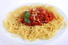 Spaghetti al Pomodoro pasta Stock Photography