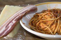 Spaghetti all'amatriciana Stock Photos