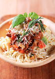 Spaghetti alla Bolognese Royalty Free Stock Images