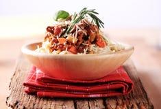 Spaghetti alla Bolognese Royalty Free Stock Photos