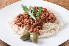 Spaghetti alla bolognese Royalty Free Stock Image