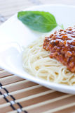 Spaghetti Alla Bolognese Detail Royalty Free Stock Image