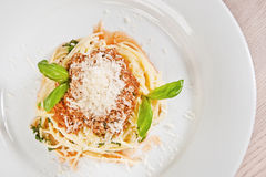 Spaghetti alla Bolognese Royalty Free Stock Photography