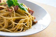 Spaghetti alla carbonara Stock Images