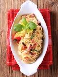Spaghetti alla carbonara royalty free stock photography