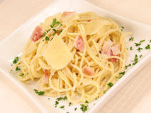 Spaghetti alla Carbonara 2 Royalty Free Stock Images