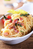 Spaghetti alla carbonara Royalty Free Stock Image