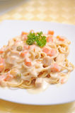 Spaghetti alla carbonara Royalty Free Stock Images