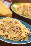 Spaghetti alla Carbonara Royalty Free Stock Images