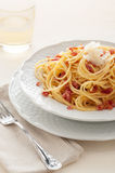 Spaghetti alla carbonara Royalty Free Stock Photo
