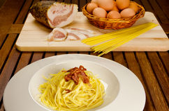 Spaghetti alla carbonara Royalty Free Stock Photos