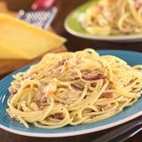 Spaghetti alla Carbonara Stock Image
