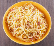 Spaghetti alla carbonara Stock Photo