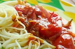 Spaghetti alla carrettiera Zdjęcie Stock