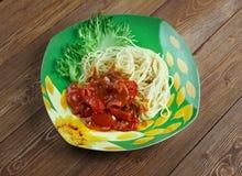 Spaghetti alla carrettiera Obrazy Stock