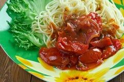 Spaghetti alla carrettiera Zdjęcia Stock