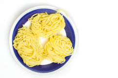 Spaghetti alla chitarra fresh pasta Royalty Free Stock Images