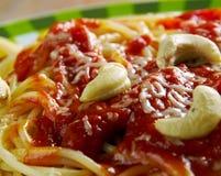Spaghetti alla corsara obraz royalty free
