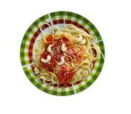 Spaghetti alla corsara zdjęcie stock