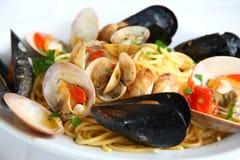 Spaghetti alla pescatora Royalty Free Stock Image