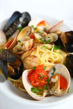 Spaghetti alla pescatora Royalty Free Stock Images