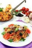 Spaghetti alla Puttanesca Royalty Free Stock Image