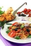 Spaghetti alla Puttanesca Royalty Free Stock Images