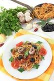 Spaghetti alla Puttanesca Royalty Free Stock Photo