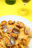 Spaghetti alle Vongole Stock Images