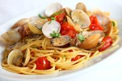 Spaghetti alle Vongole Royalty-vrije Stock Afbeeldingen