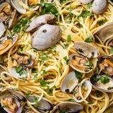 Spaghetti alle Vongole close up Royalty Free Stock Photography