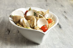 Spaghetti alle vongole. Food & Dishes for Restaurants, Cuisine of the peoples of the world, Healthy Recipes Royalty Free Stock Photos