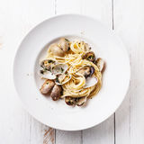 Spaghetti alle Vongole Royalty Free Stock Images