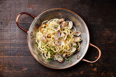 Spaghetti alle Vongole Stock Photo