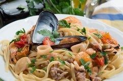 `Spaghetti allo scoglio` - Italian food royalty free stock photos