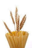 Spaghetti And Ear Of Wheat Stock Images