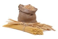 Spaghetti And Ear Of Wheat Royalty Free Stock Photos