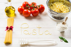 Free Spaghetti And Ingredients Royalty Free Stock Photo - 42550925
