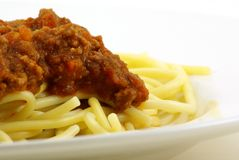Spaghetti And Meat Sauce Royalty Free Stock Photo