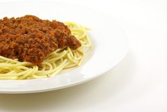 Spaghetti And Meat Sauce Stock Image