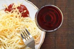 Free Spaghetti And Wine Stock Photo - 13651520