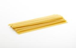 Spaghetti asta on white background. Raw spaghetti on white background Stock Photography