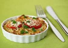 Spaghetti au gratin Royalty Free Stock Photos