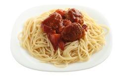 Spaghetti avec des boulettes de viande Photo stock